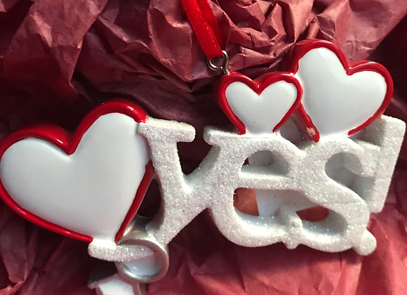 Yes! Love Ornament