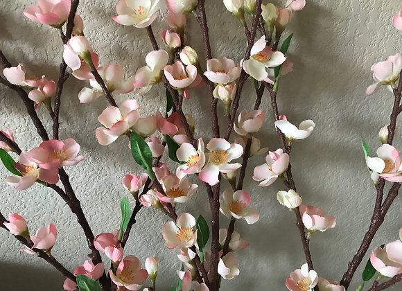 Small cherry blossom silk flowers