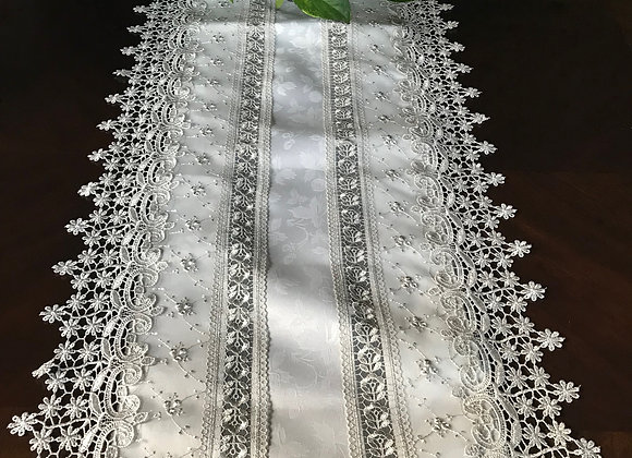 Elegant embroidered runner -GREY