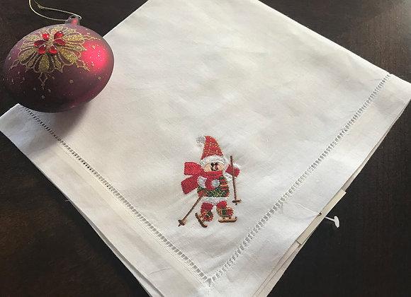 Holiday Cloth Napkin - Snowman