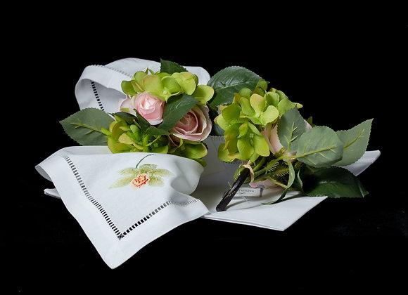 Rose Hydrangea Napkin Ring - PINK
