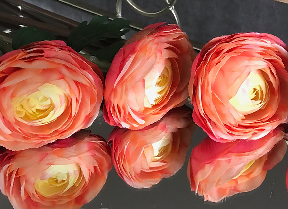 Pink/orange silk flower bunch