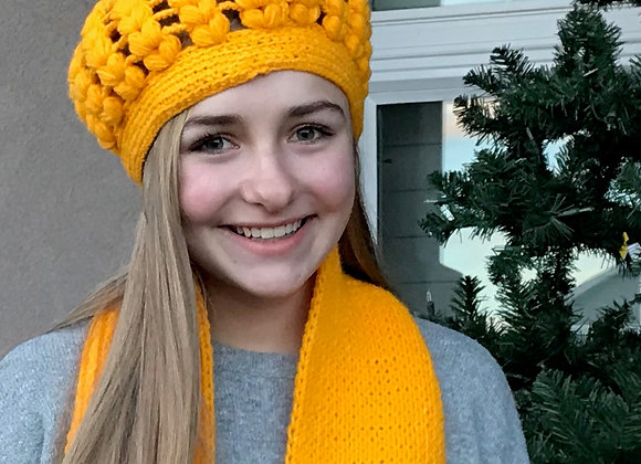 Hat and Scarf set - YELLOW