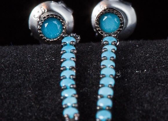Earring Blue zirconia
