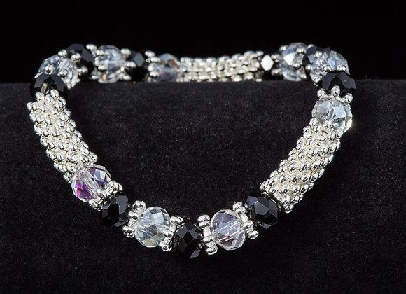 Fashion Bracelet - Black & Silver
