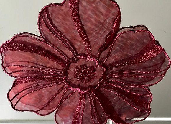 "7.5"" Flower Design - Sangria Doily"