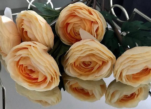 Apricot silk flower bunch