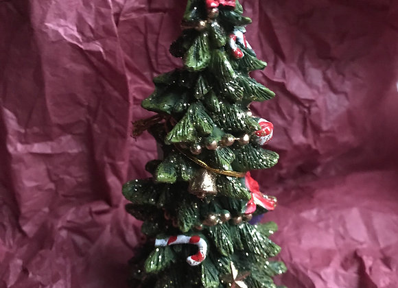 Christmas Tree with Star & Snow Figurine