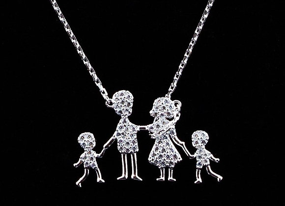 Necklace Family of 4