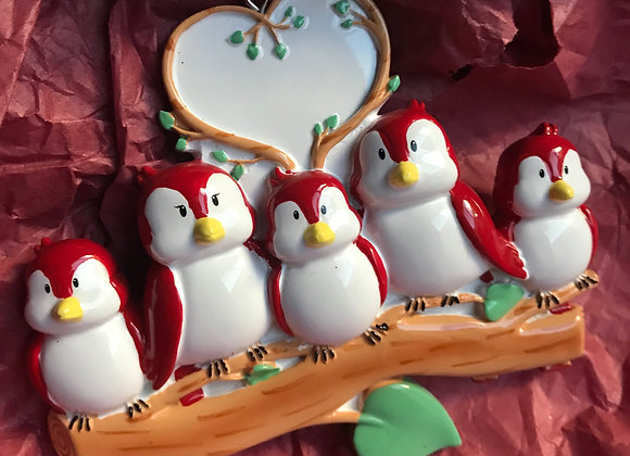 Bird Family Ornament
