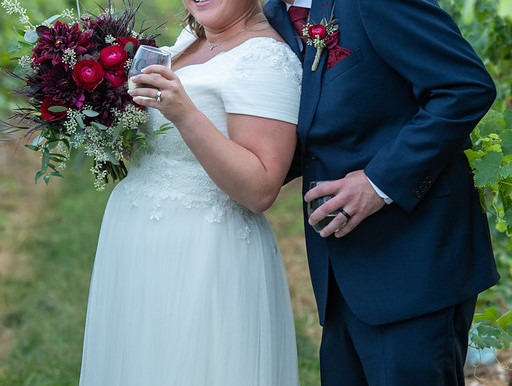 Katey & Adam's Fall Wedding at Big Cork Vineyards