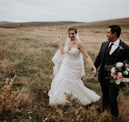 Nichole & Albert's Plum & Blush Wedding