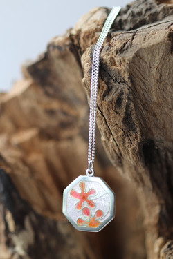 Cherry Blossom Enamel Pendant