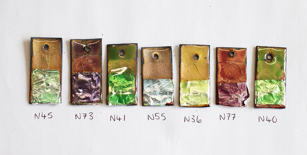 Japanese Ninomiya enamel colours