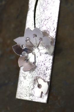 Falling Petal Silver Pendant