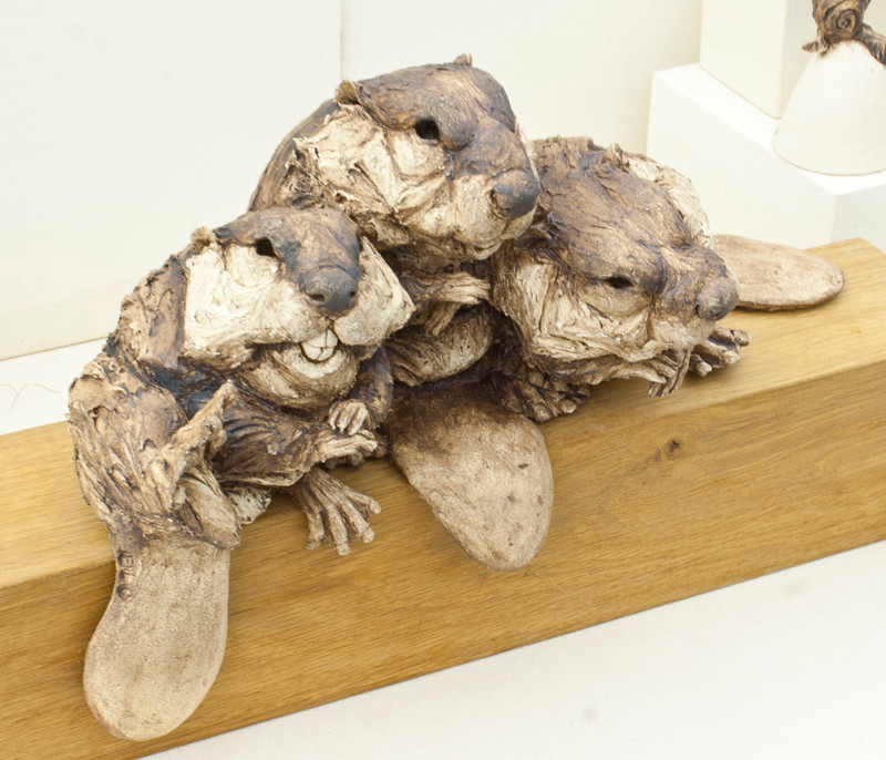 Beaver Trio Sculpture by Felicity Lloyd-Coombes