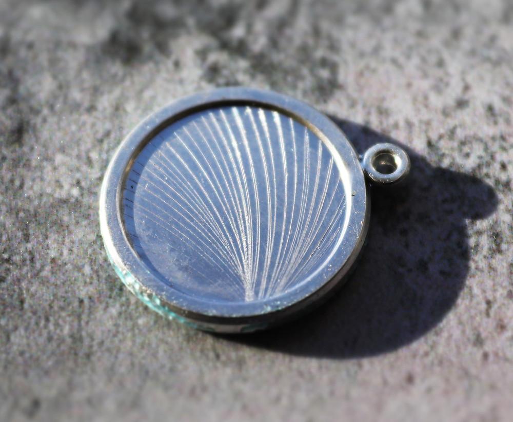 Fine silver pendant ready for enamelling