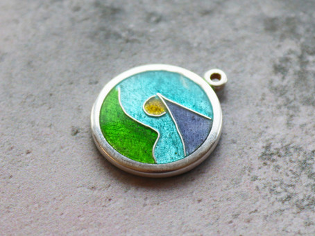 Abstract Landscape Pendant