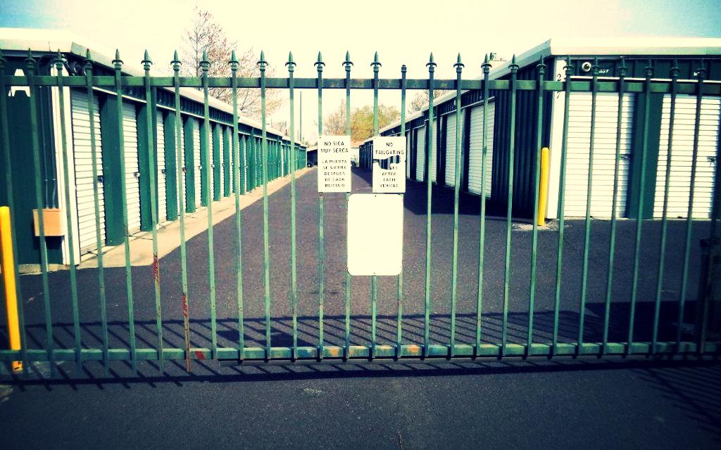 5th Avenue Self Storage front gate.