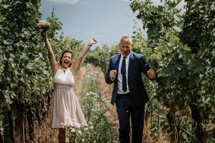 Hochzeit im Meraner Land und Feier am Kalterer See