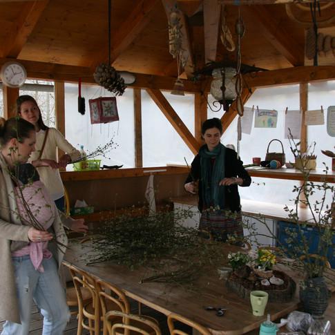 Výroba jarní dekorace