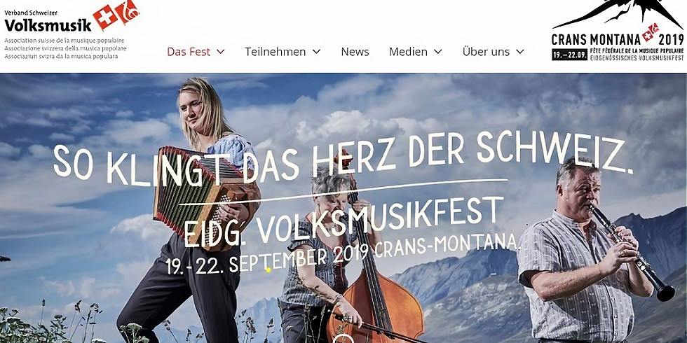 Eidgenössisches Volksmusikfest 2019 in Crans Montana