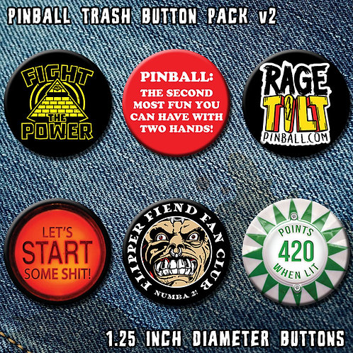Pinball Trash Button Pack 2