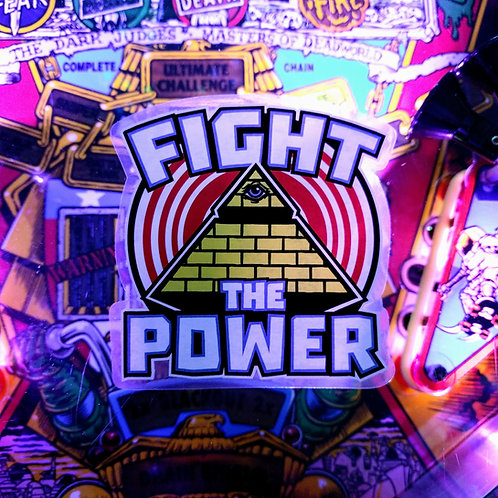 Fight the Power Large Pinball Sticker