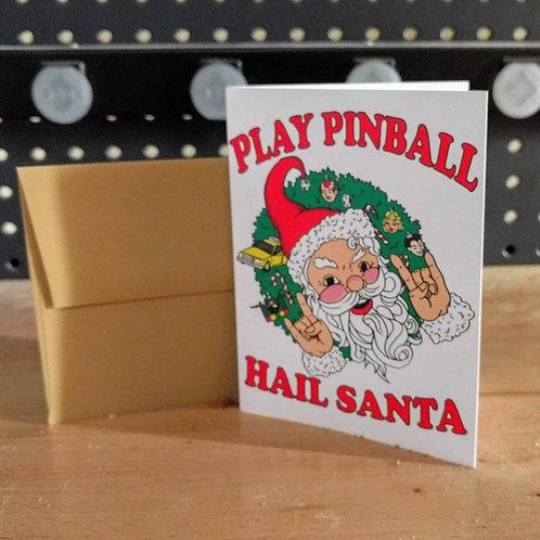 Play Pinball Hail Santa Cards