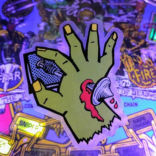 Power Plunge Pinball Sticker