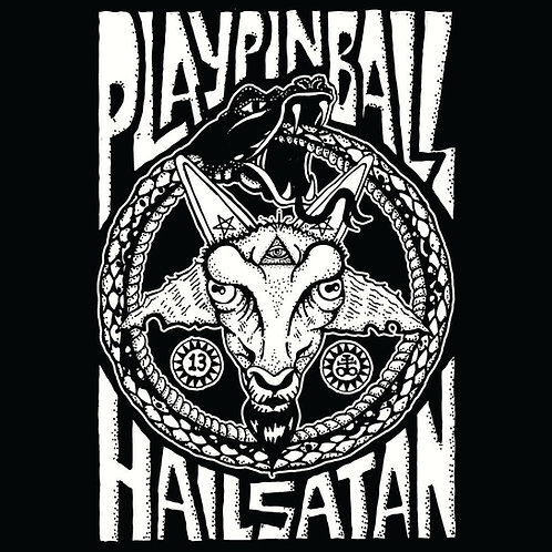 Tank Top Play Pinball and Hail Satan