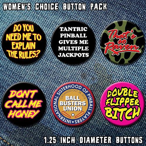 Women's Choice Button Pack