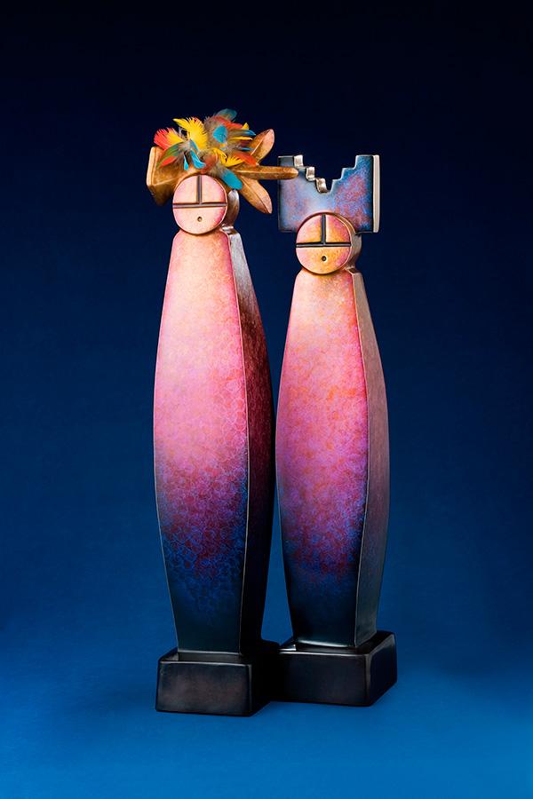 Kiva Man & Woman (diptych)