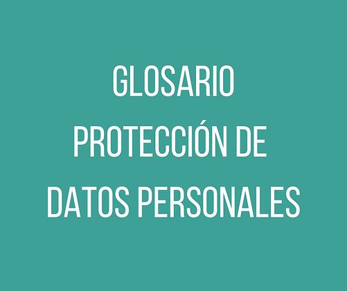 Glosario Protección de Datos Personales inglés<>español