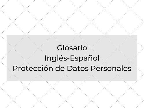 Glosario Protección de Datos Personales inglés-español
