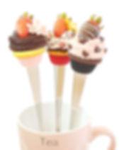 Cours Fimo Caprice élégant Bussigny Suisse VD – Mes cuillères Strawberry Cupcakes