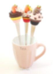 Fimo cuillère strawberry cupcake
