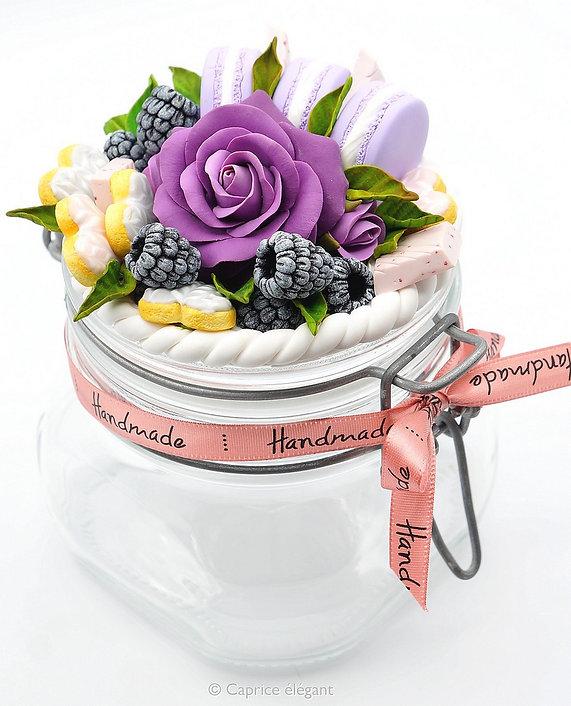 Fimo pot décoré Caprice élégant