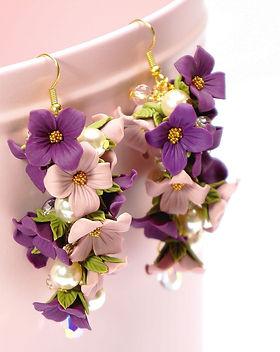 Cours Fimo Caprice élégant Bussigny Suisse VD – Boucles d'oreilles en fleurs Fimo