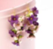 Cours Fimo - Caprice élégant - boucles d'oreilles en fleurs Fimo
