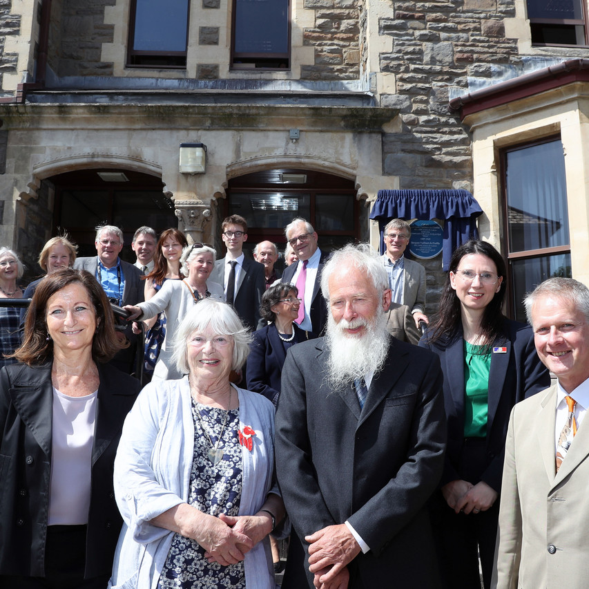The Barbier donors, with Mrs Ripert, Delphine Isaaman, Paul Barbier, Marie Navarro and the VC