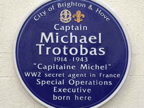 Official unveiling in Brighton of our blue plaque in memory of Michael Trotobas