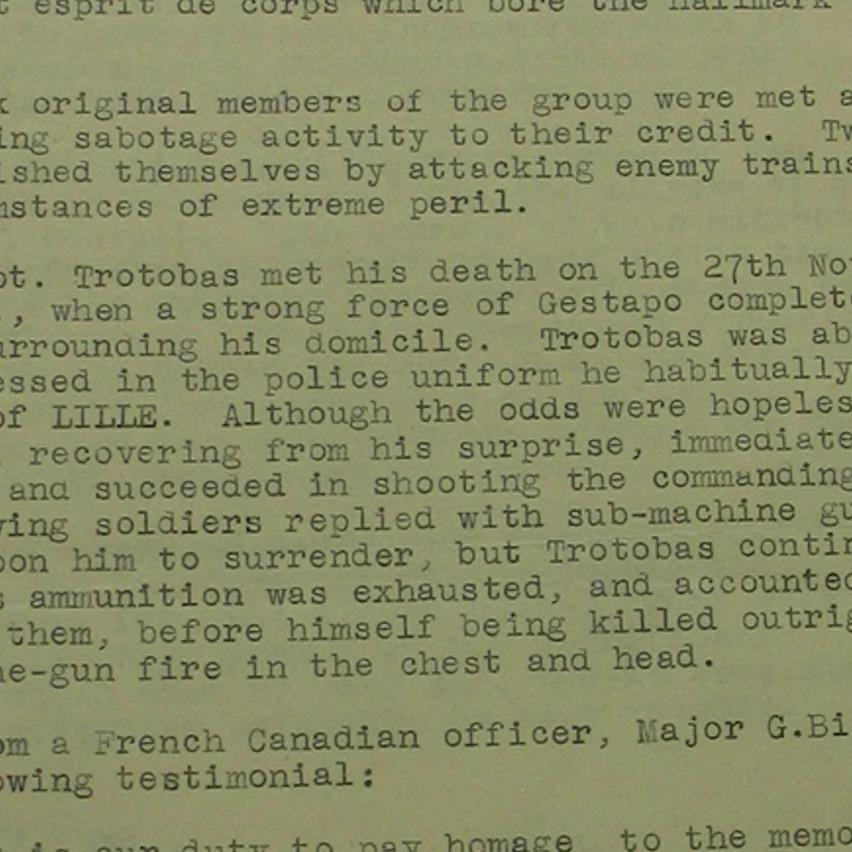 Trotobas death report