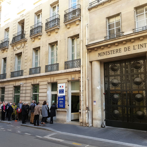 6 - entering 11 rue des Saussaies ex Ges