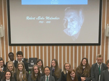 "Sixth form students learn about the WW2 secret agent later to be called ""France's James Bon"