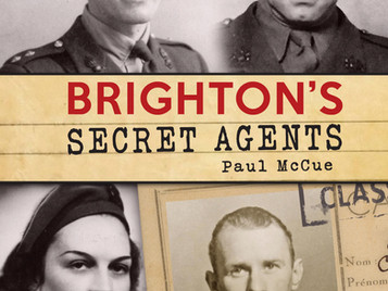 Brighton's Secret Agents: the first copies of Paul McCue's book were sold and signed at The