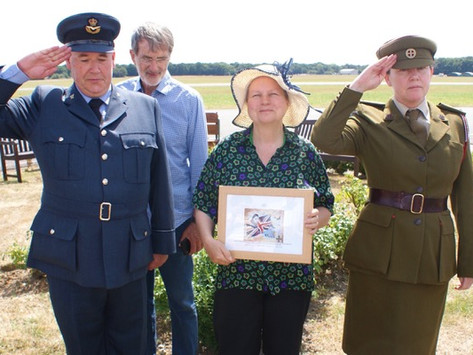 Commemorating the safe return from occupied France of the FANY SOE agent Jacqueline Nearne MBE, Croi