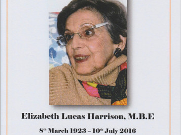 Another farewell: Elizabeth Lucas Harrison MBE