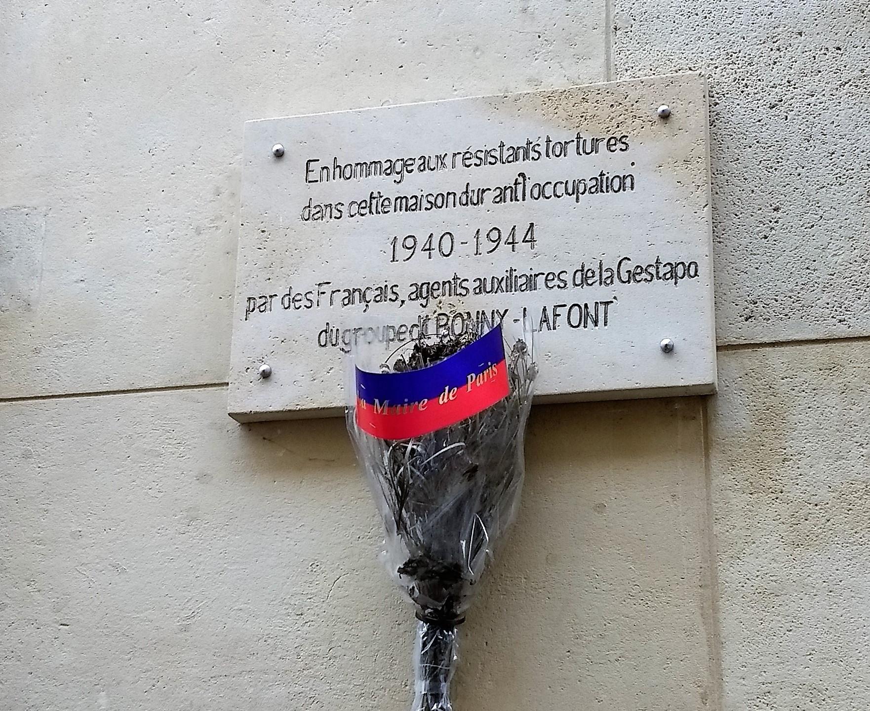 rue Lauriston plaque