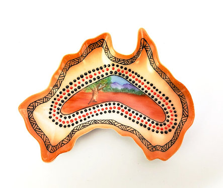 Australia Ceramic Dish - Bommerang Red Earth